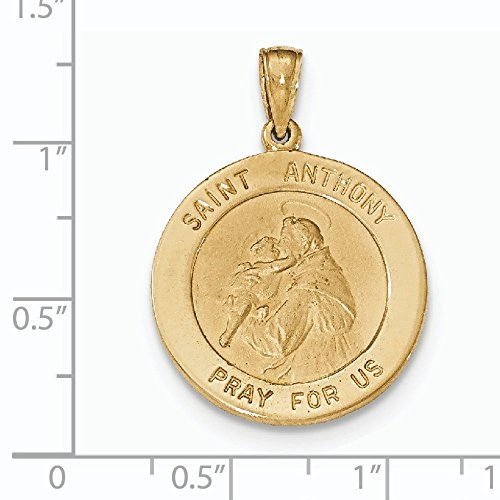 Pendentif Médaille Saint Anthony Grand Rond Or 14carats