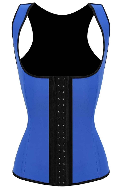 JerrisApparel Women's Latex Waist Trainer Steel Boned Waist Cincher Corset Vest JEB5460