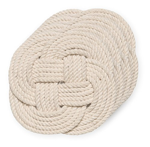(Now Designs Crocheted Nautical Rope Coaster, Set of Four)