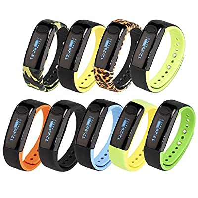AIMOX Wireless Activity Fitness Trackers Smart Band Bluetooth Pedometer Sports Bracelet with Sleep Monitor Calories Consumption