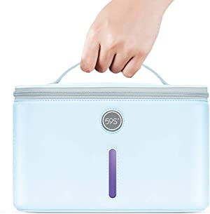 59S UV Light Sanitizer Bag with 24 UVC LEDs, XL UV Disinfection Box, Extra Large UVC Cleaning Bag P55 for Cell Phones,Glasses, Keys, and Other Items, Kills 99.9% of Germs, Viruses, and Bacteria