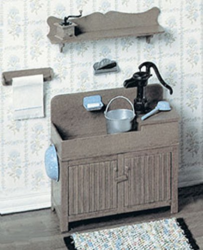 Dollhouse Miniature Chrysnbon Kitchen Sink Kit