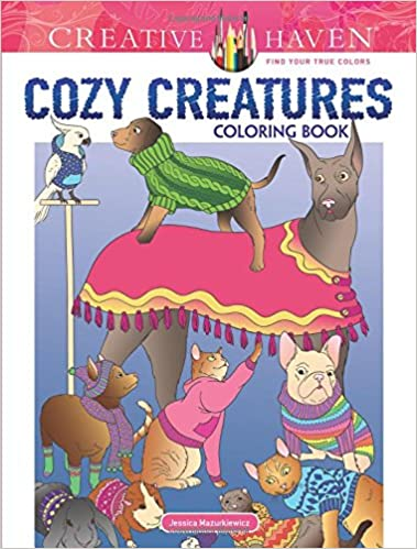 Amazon Creative Haven Cozy Creatures Coloring Book Adult 9780486816715 Jessica Mazurkiewicz Books