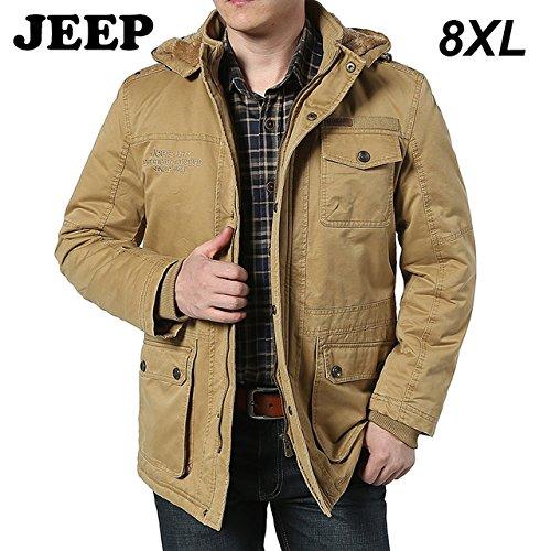World2home Men S Fleece Cotton Jeep Warm Jacket Coat Plus Size