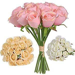 Pumsun 18 Head Artificial Fake Roses Flower Bridal Bouquet Wedding Party Home Decor 41