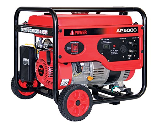 A-iPower AP5000V 5000-Watt Gas Powered Portalable Generator | AP5000, 5000 WATT, Oranage