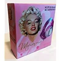 Price Point Accessories LLCRBH5147 Marilyn Monroe Super Bass DJ Headphones with Built-In Mic and In-Line Remote Control - Pink
