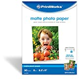 Printworks Matte Photo Paper, Double-Sided, 8 Mil, Inkjet, 30 Sheets, 8.5 x 11 Inch (00548)