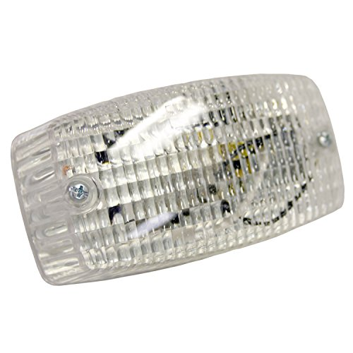Blazer International Trailer & Towing Accessories Blazer B450C Push Button Interior Lamp - Clear Dome Lamp Assembly