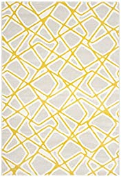 Safavieh Porcello Collection PRL3739A Light Grey and Lime Area Rug (2\' x 3\'7\
