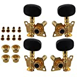 BQLZR Gold-Plated 2R2L Tuning Peg Machine Head Tuners For Ukulele 4 String Guitar