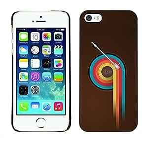 Carcasa Funda Prima Delgada SLIM Casa Case Bandera Cover Shell para Apple Iphone 5 / 5S / Business Style Colorful Vinyl Retro