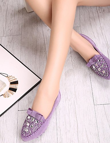 us5 eu36 zapatos cn35 Flats tipo pink 5 rosa cerrado PDX Toe azul casual vestido uk3 ante Toe mujer de talón 5 Mocasín Punta de plano morado negro 1xwOq5gFw