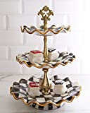 MacKenzie-Childs Courtly Check Three Tier Sweet Stand