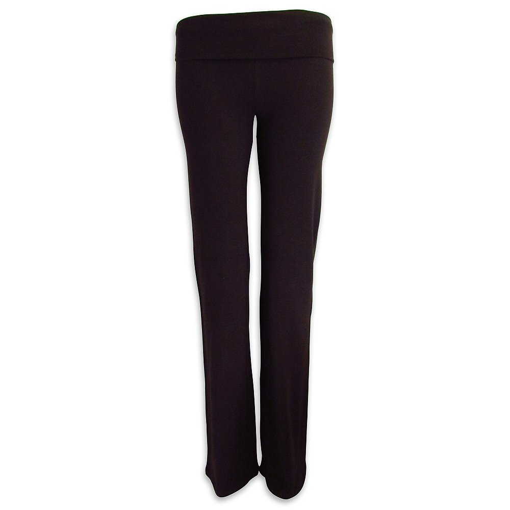 The Outlet London Women's Yoga Workout Sport Leggings Pants Over Waistband Color Trousers