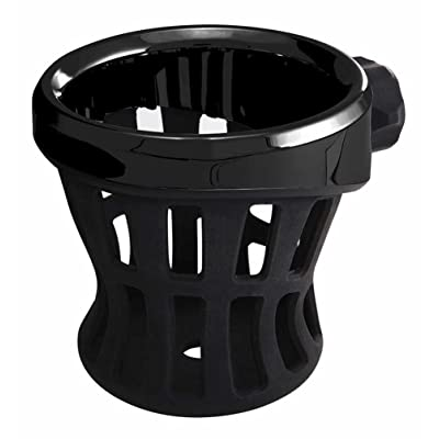 Ciro Black Rubber Drink Holder for Harley - No Mount All Black 50005: Ciro: Automotive