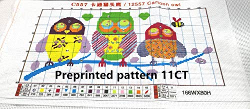 CaptainCrafts New Stamped Cross Stitch Kits Preprinted Pattern Counted Embroidery Starter Kits for Beginner Kids and Adults - Colored Unicorn - DIY Artwork Needlecrafts (Stamped 11CT)