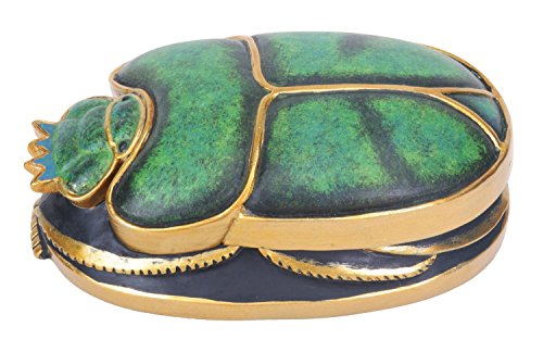 Green and Gold Scarab Collectible Figurine