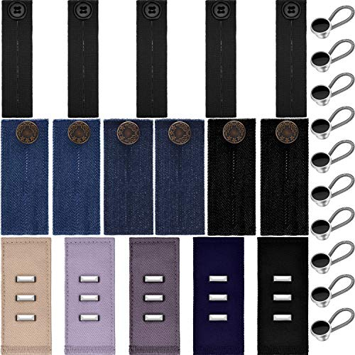 Leinuosen 26 Pieces Waist Extender Pants Buttons Extenders for Skirts Pants and Jeans Favors