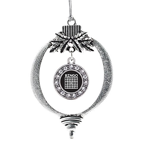 Inspired Silver Bingo Circle Holiday Decoration Christmas Tree (Bingo Ornament)