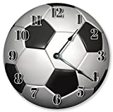 10.5'' SOCCER BALL CLOCK - Large 10.5'' Wall Clock - Home Décor Clock