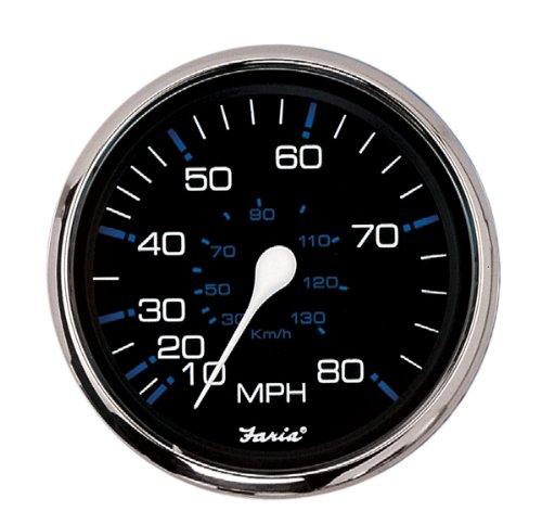 Faria 33705 Speedometer-80 MPH, Chesapeake Black ()