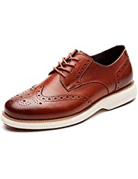 Mens Oxford Shoes Wingtip Genuine Leather Lace up Dress Shoes