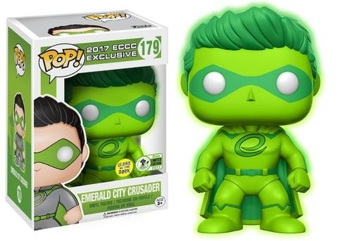 Funko Pop  Emerald City Crusader Glow In The Dark 2017 Spring Convention Exclusive