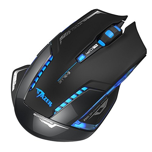 E-3LUE Wireless Gaming Mouse,2.4G Wireless Mouses Portable Optical Computer Mice with USB Nano Receiver and ON/OFF/light Switch,4 Adjustable DPI Levels,Power Saving Cordless Mouse for Laptop, PC, Mac by E-3lue (Image #2)