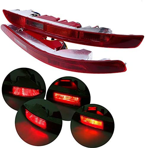 LED Bumper Lights,Sunwan Rear Reflector Red Tail Lighting Brake Stop Light with Turning Signal Sign for Mk7 Left Lamp