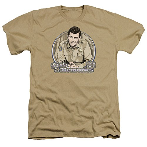 Andys T-shirt Shop - Trevco Men's Andy Griffith Short Sleeve T-Shirt, Memories Heather Sand Large