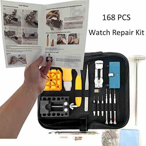 HAOBAIMEI 168 PCS Watch Repair Kit Professional Spring Bar Tool Set 0b68a709f