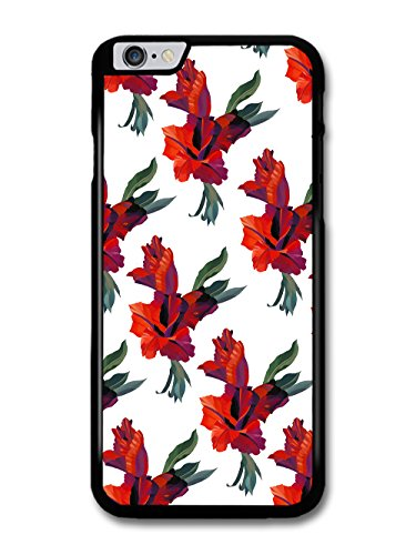 Cool Painting Pattern of Red Floral Print Flowers on White case for iPhone 6 Plus 6S Plus