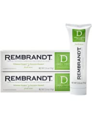 Rembrandt Deeply White + Peroxide Whitening Toothpaste, Fresh Mint Flavor, 2.6-Ounce (2 Pack)