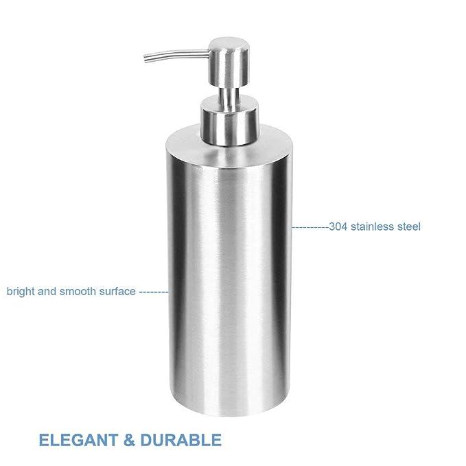 Dispensador de Jabón, ARKTEK Premium 304 Dispensador de Jabón Líquido de Acero Inoxidable para Cocinas y Baños (550 ml): Amazon.es: Juguetes y juegos