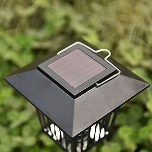 Solar LED Garden Light Lamp Pest Bug Zapper Insect Mosquito Killer