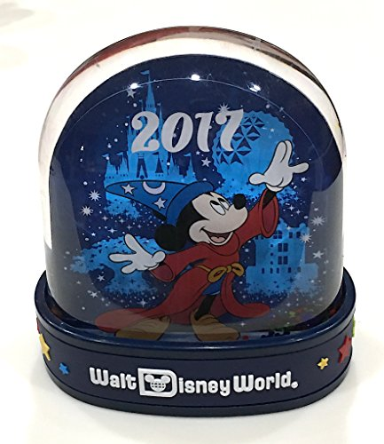 Walt Disney World Parks 2017 Sorcerer Mickey Mouse Plastic Snowglobe Snow Globe