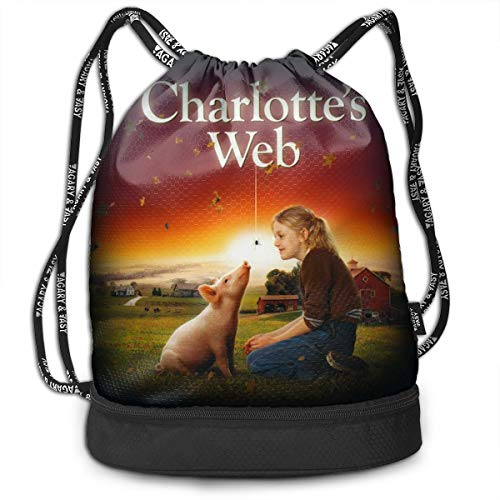 Drawstring Sports Charlotte's Web Dakota Fanning Backpack Lightweight For Men And Women