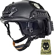 ATAIRSOFT Tactical Airsoft Paintball Maritime Adjustable Helmet Black