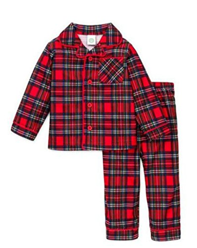 Boys Christmas Pajamas Infant or Toddler Plaid (6)