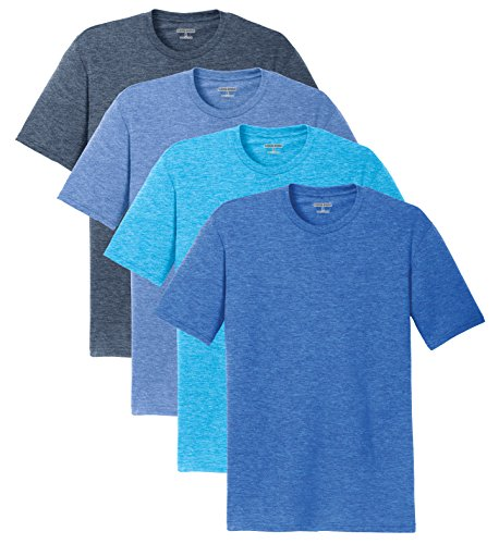 af9fe51529d7b KAMAL OHAVA Men s Ultra Soft Tri Blend Short Sleeve T-Shirt (Pack of ...