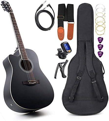 Vangoa Guitarra Acústica Eléctrica para Zurdos 41 pulgadas Tamaño ...