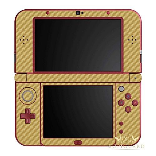 SopiGuard Gold Carbon Fiber Vinyl Skin Full Body for Nintendo New 3DS XL LL (New 3ds Xl Carbon Fiber compare prices)