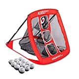Rukket Pop Up Golf Chipping Net | Outdoor / Indoor Golfing Target Accessories and Backyard Practice Swing Game | Includes 12 Foam Practice Balls