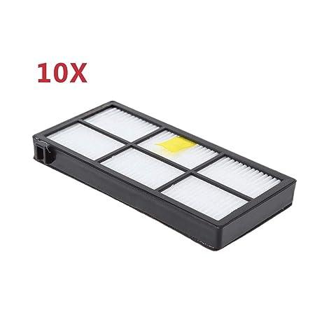 10 filtros HEPA para aspiradora compatibles con I-Robot Roomba 800 ...