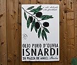 Olive Oil - 24x36'' - Italian Inspired - Perfect for Kitchen - Home Decor - Salvaged Wood - Rue Sonoma Original Design