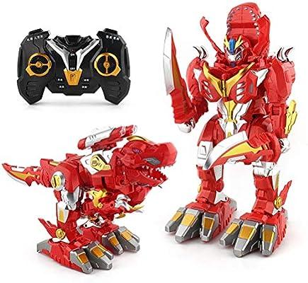 YRE Robot de Control Remoto deforme Dinosaurio, deformación de un Solo Clic, transmisión de Voz, Inteligente Control Remoto Robot Modelo de Juguete,Red