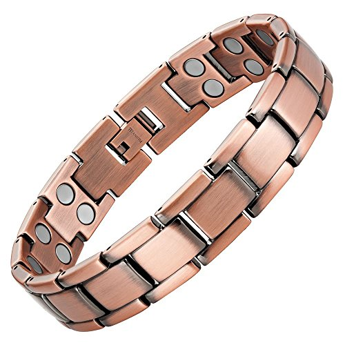 Willis Judd Double Strength Titanium Magnetic Therapy Bracelet For Arthritis Pain Relief ()