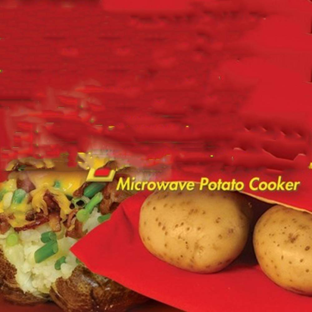 5 Pcs/Lot Oven Microwave Baked Red Potato Bag For Quick Fast(Cook 8 Potatoes At Once) In Just 4 Minutes Washed Potato Bags