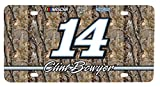 NASCAR #14 Clint Bowyer Real Tree Metal License Plate-NASCAR Real Tree Camouflage Car Tag